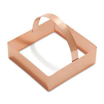 """Sur La Table Copper-Plated Square Cookie Cutter with Handle, 3"""""""