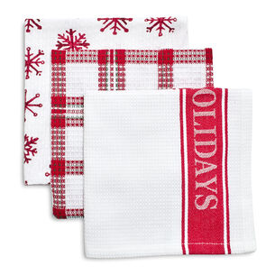 Happy Holidays Dishcloths, Set of 3