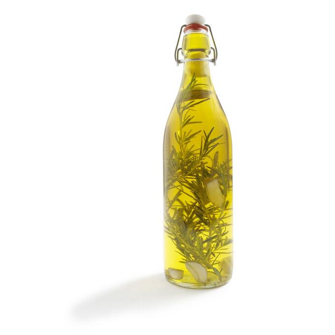 Italian Cylindrical Airtight Glass Bottle, 33¾ oz.