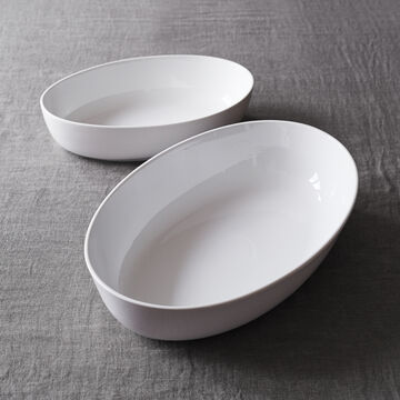 Porcelain Oval Serving Bowl