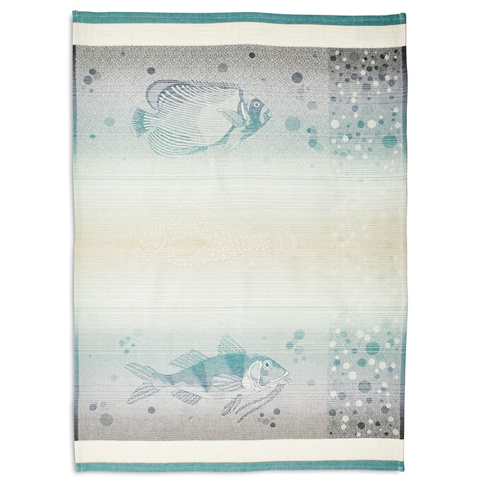 "Blue Fish Jacquard Kitchen Towel, 30"" x 22"""