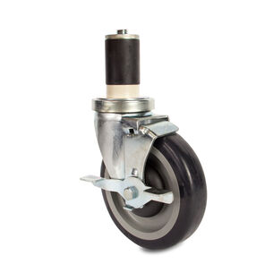 """John Boos & Co. Heavy-Duty Locking Casters for Round Legs, 5"""""""