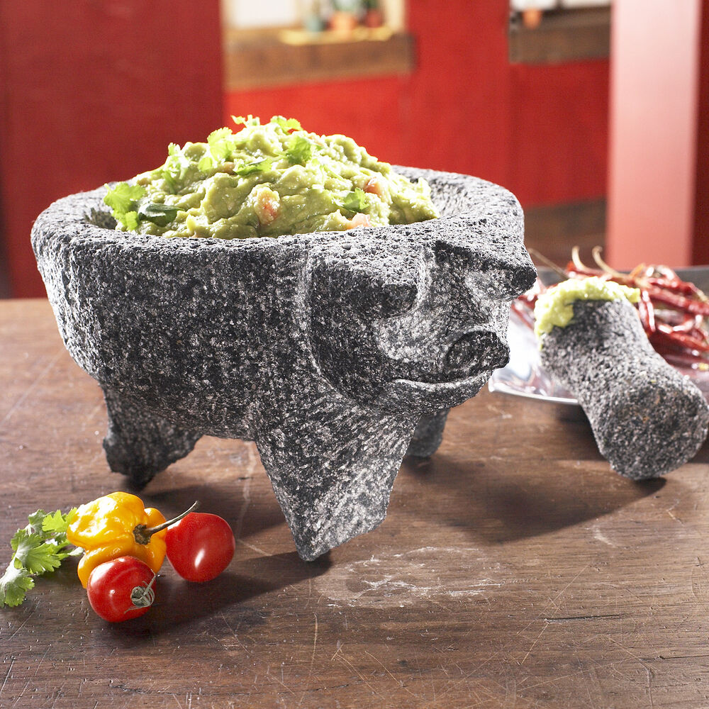 Preseasoned Pig Molcajete