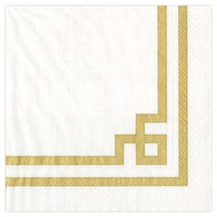 Rive Gauche Gold Cocktail Napkins, Set of 20