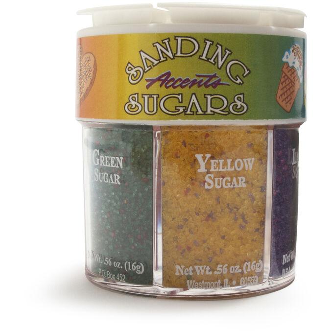 Sanding Accent Sugar, 6 colors