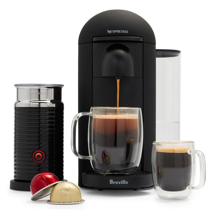 Nespresso VertuoPlus by Breville with Aeroccino3, Matte Black