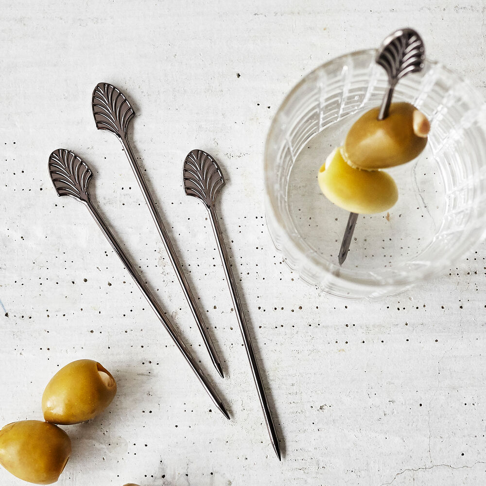 Viski Gunmetal Cocktail Picks, Set of 4