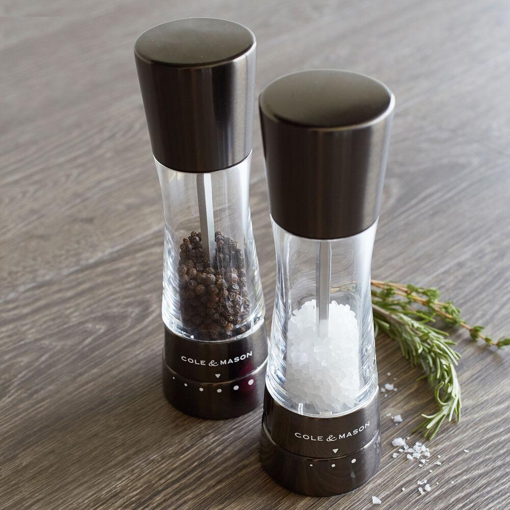 Cole & Mason Derwent Salt & Pepper Mills, Gunmetal