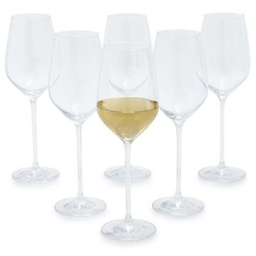 Schott Zwiesel Fortissimo Soft-White Wine Glasses, Set of 6
