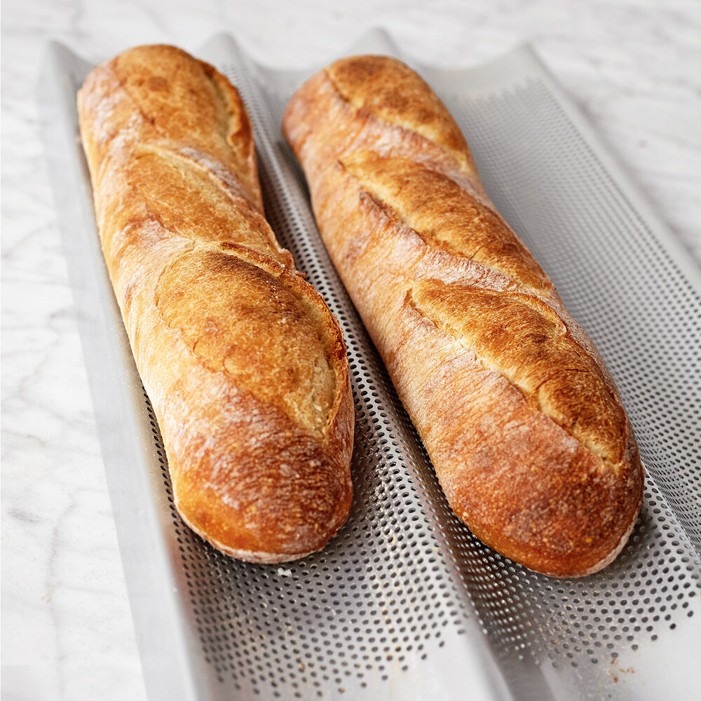 Sur La Table Platinum Triple Baguette Pan