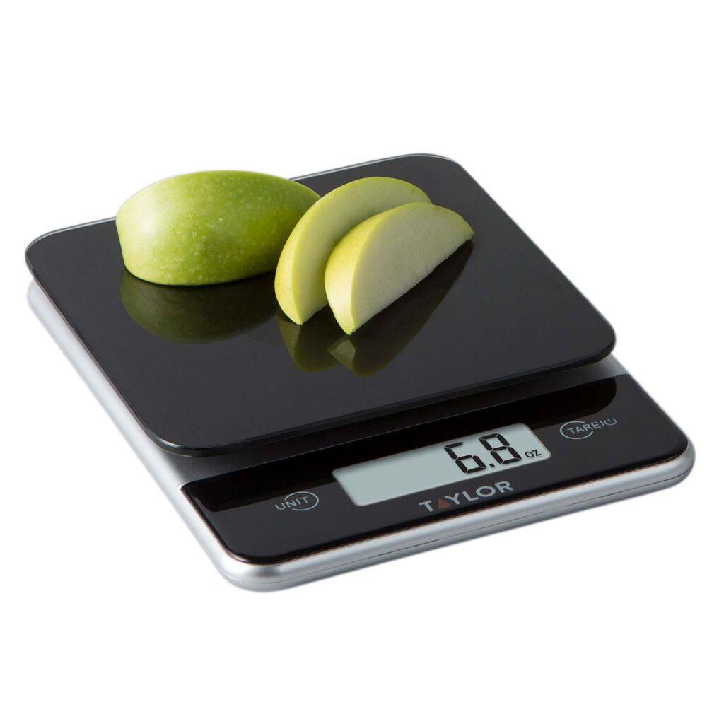 Taylor Glass Digital Kitchen Scale Black, 11 lb.
