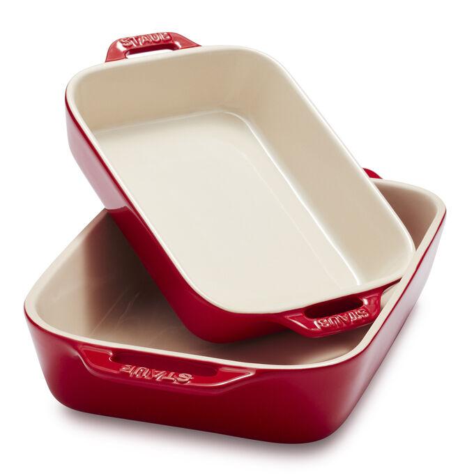 Staub Ceramic Rectangular Baking Dishes, Set of 2