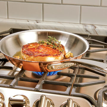 All-Clad c4 Copper Skillet, 8""