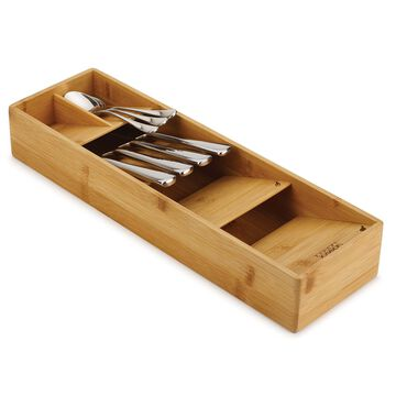 Joseph Joseph DrawerStore Compact Cutlery Organizer, Bamboo
