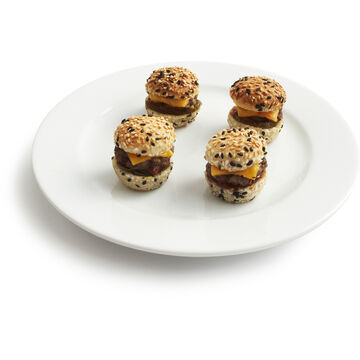 Mini Burgers with American Cheese and Pickle, 45-Piece Tray