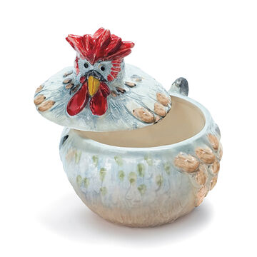 Jacques Pépin Collection Figural Covered Chicken Bowl