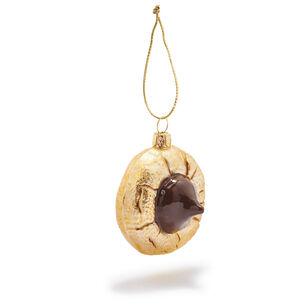 Chocolate Thumb Print Cookie Glass Ornament