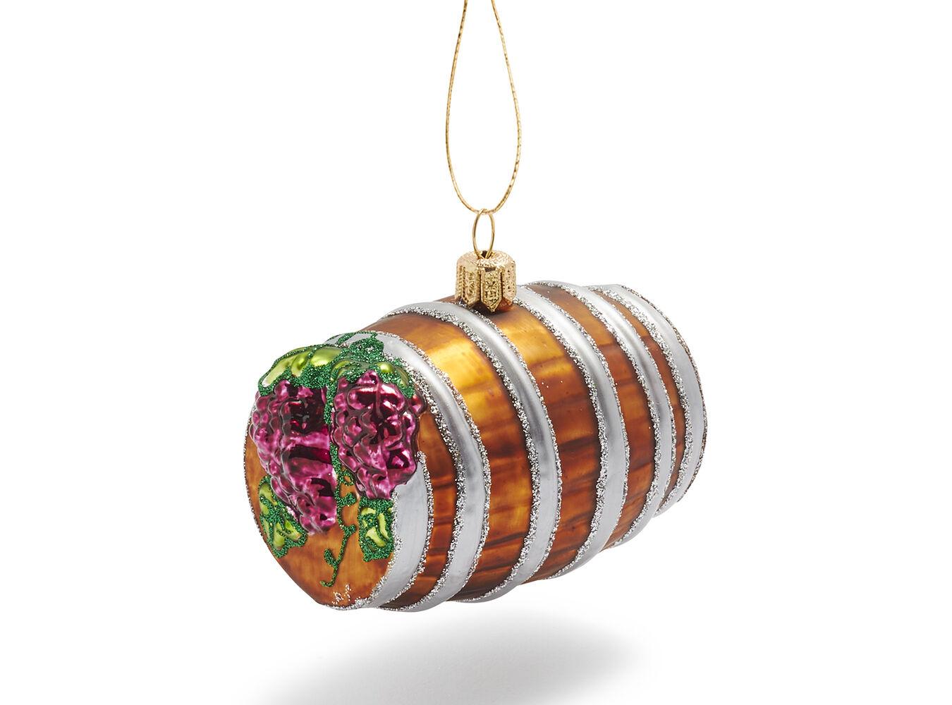 2010 Wine Barrel Glass Ornament   Sur La Table