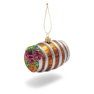 2010 Wine Barrel Glass Ornament