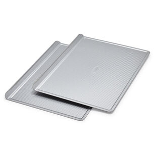 Sur La Table Platinum Pro Half Sheet Cookie Sheet Pan, Set of 2