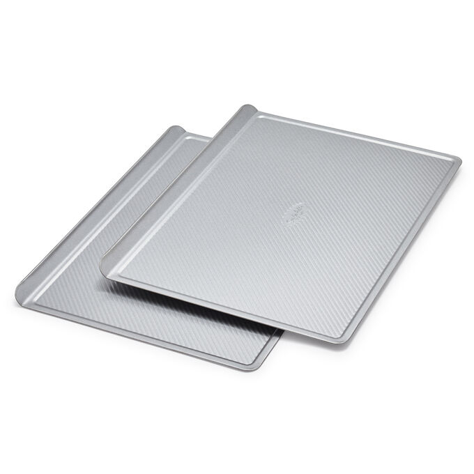 Sur La Table Platinum Pro Half Sheet Cookie Sheet Pan, Set of 2