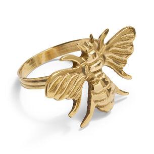 Gold Bee Napkin Ring, Set of 4