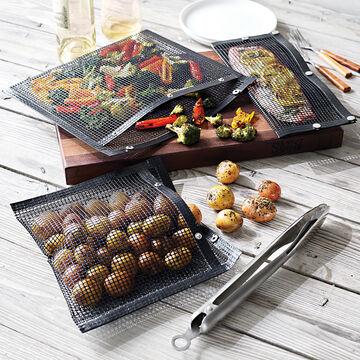 Nonstick Mesh Grilling Bags, Set of 3