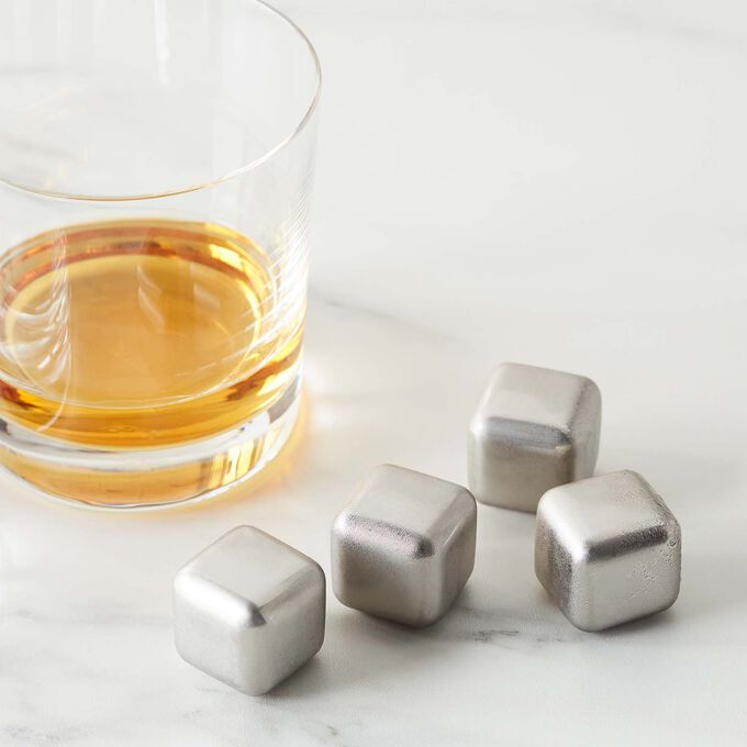 Sur La Table Stainless Steel Chilling Cubes, Set of 4
