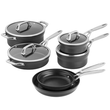 Zwilling Motion 10-Piece Hard-Anodized Aluminum Nonstick Cookware SetItalian design meets German engineering.