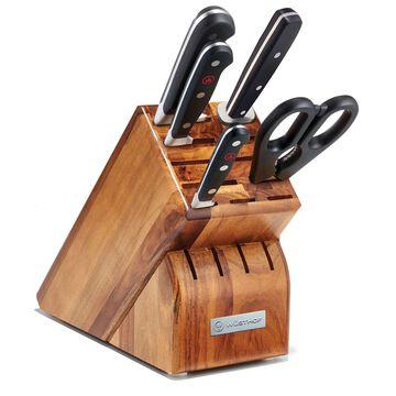 Wüsthof Classic 6-Piece Knife Block Set with Spoon
