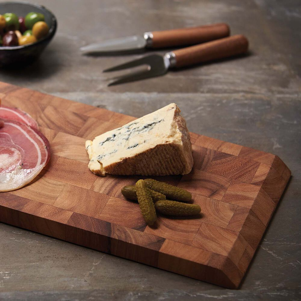 Bowery Acacia Wood End Grain Cheese and Charcuterie Board