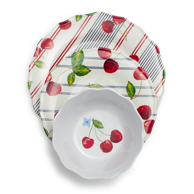 Pique-Nique Melamine Dinnerware, Set of 12