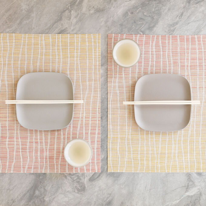 """Chilewich Float Guava Placemat, 19"""" x 14"""""""