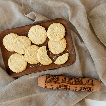 Woodland Cottage Embossed Rolling Pin