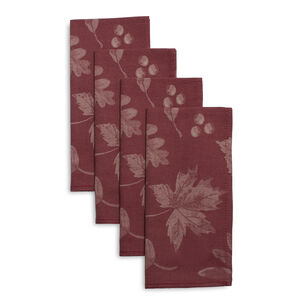 Fall Leaf Jacquard Napkins, Set of 4