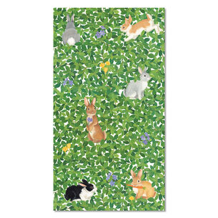 Bunnies in Boxwood Paper Napkins, Set of 15