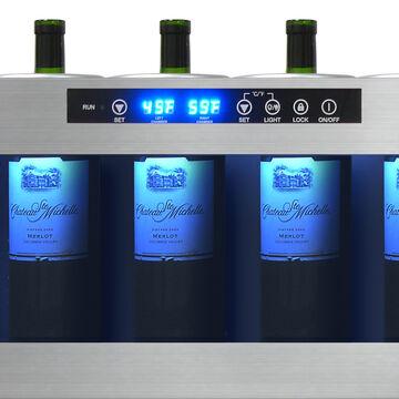 Vinotemp Il Romanzo 6-Bottle Dual-Zone Open Wine Cooler