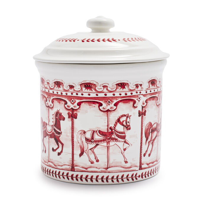 Snowy Lane Cookie Jar