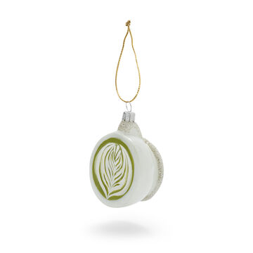 Matcha Latte Glass Ornament
