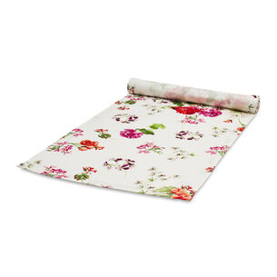Red & Pink Floral Table Runner