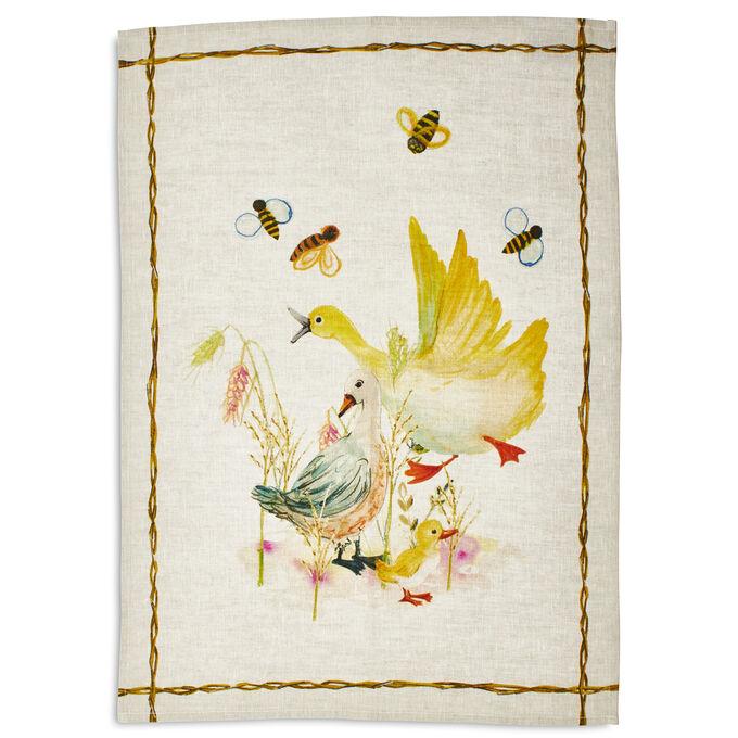 "Ducks Linen Kitchen Towel, 28"" x 20"""