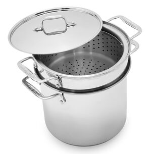 All-Clad 8qt.Stockpot with Pasta and Steamer Insert