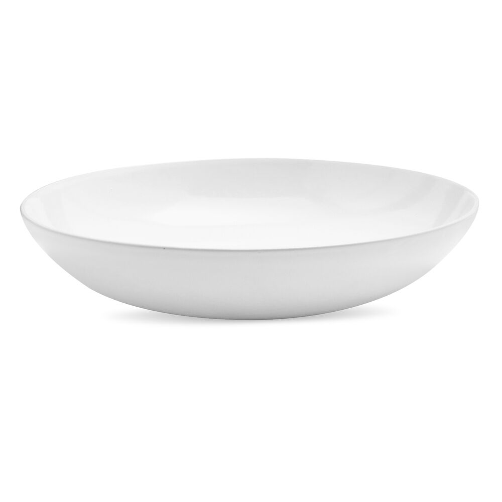 Italian Whiteware Curved Serving Bowl
