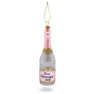 Rosé Champagne Glass Ornament