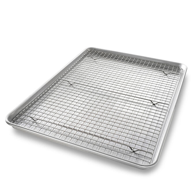 USA Extra Large Sheet Nonstick Pan and Bakeable Nonstick Cooling Rack Set