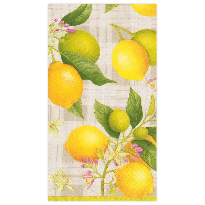 Citron Guest Napkins, Set of 15