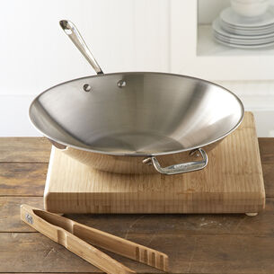 All-Clad d3 Stainless Steel Stir-Fry Pan, 14""