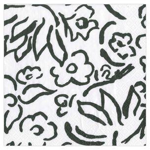Matisse Black Cocktail Napkins, Set of 20