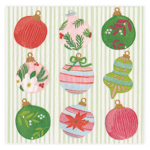 Painted Ornaments Cocktail Napkins, Set of 20