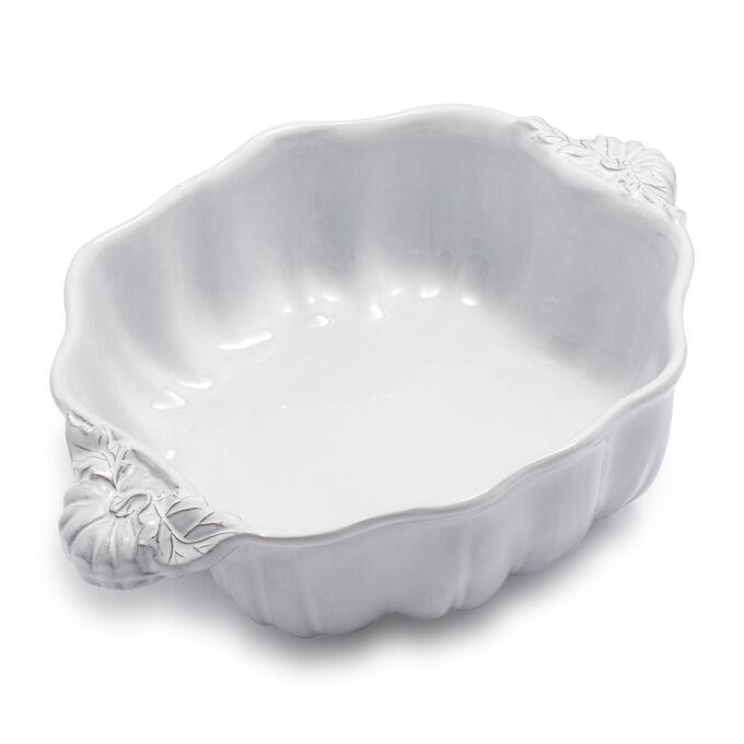White Pumpkin Embossed Bowl